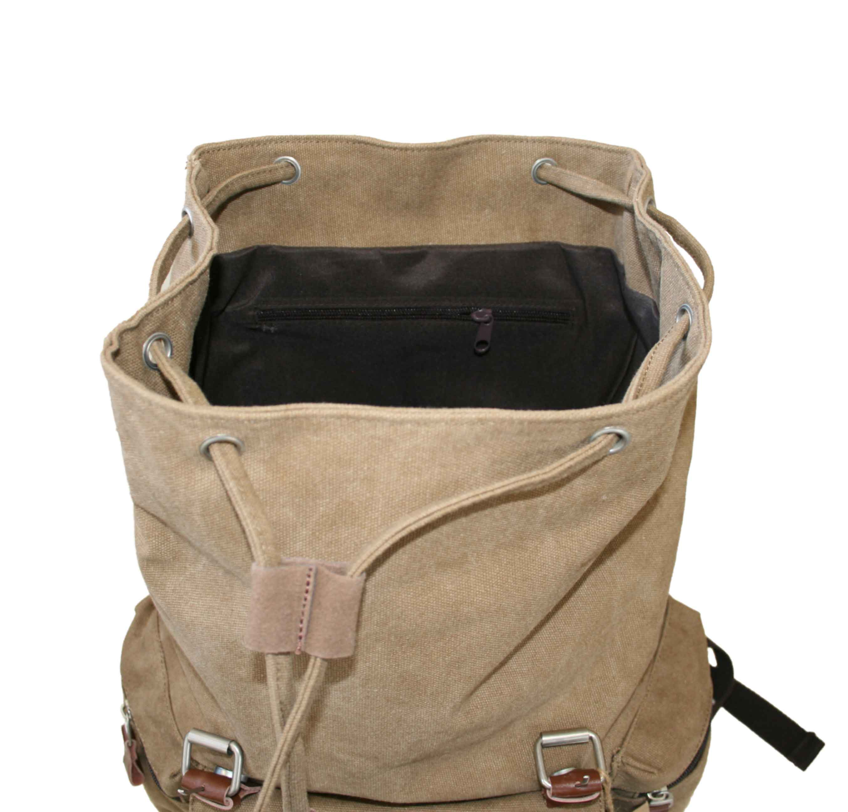 Backpack Cotton Canvas Two Buckles Zepter Sports Usa