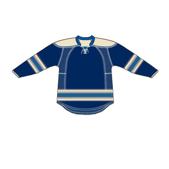 Uncrested Columbus Blue Jackets - Third U2014 Zepter Sports USA